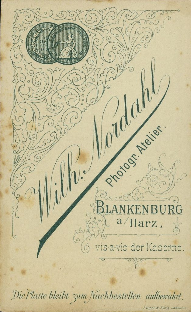 Wilh. Nordahl - Blankenburg - W. Burghardt