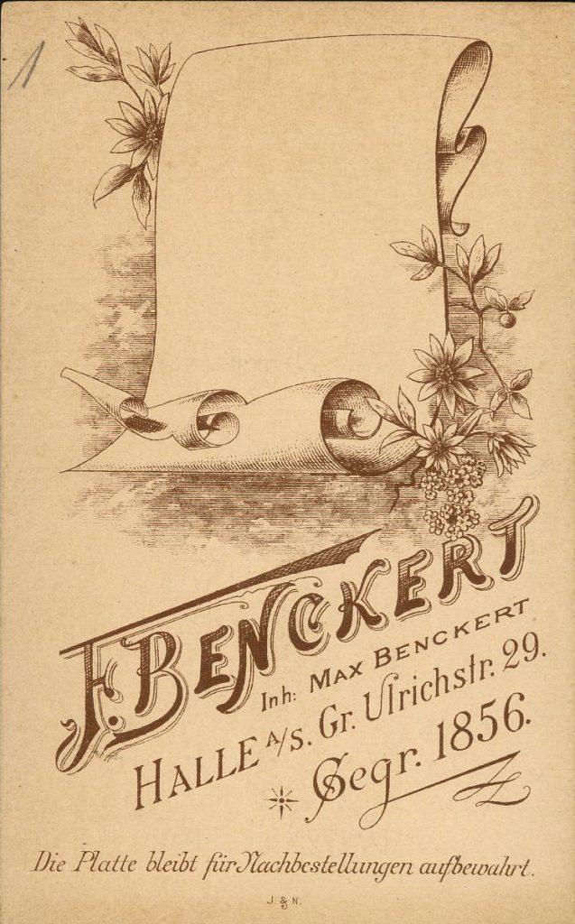 F. Benckert - Halle - Max Benckert
