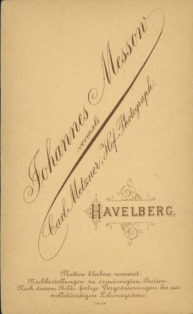 Johannes Messon - Carl Motzner - Havelberg