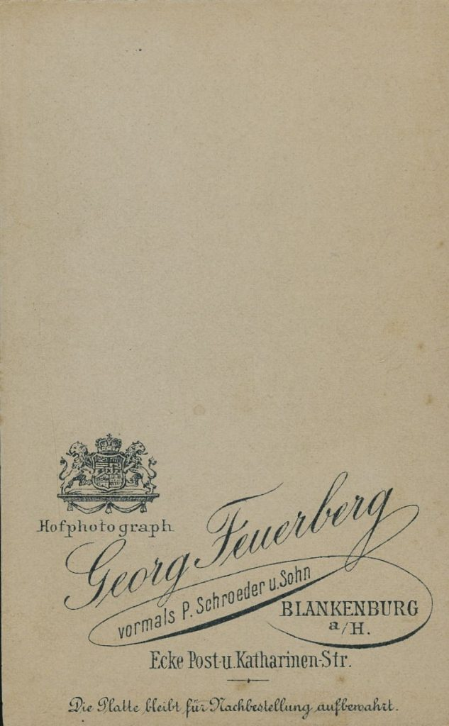 Georg Feuerberg - P. Schroeder - Blankenburg
