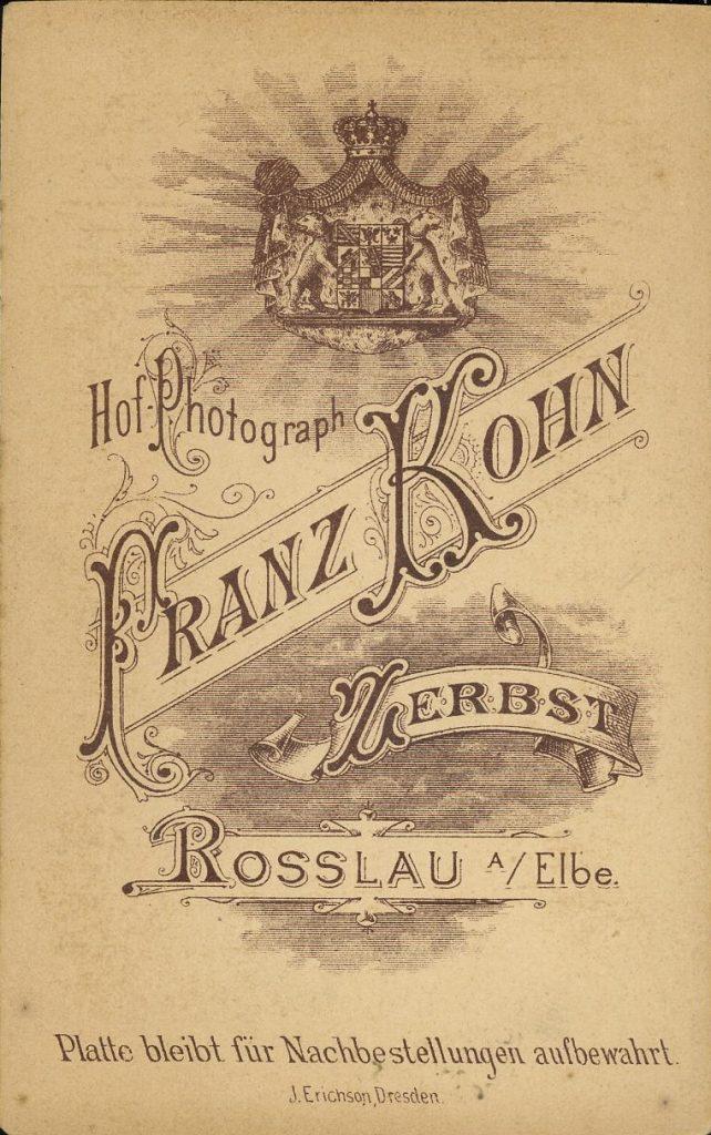 Franz Kohn - Zerbst - Rossla a. Elbe