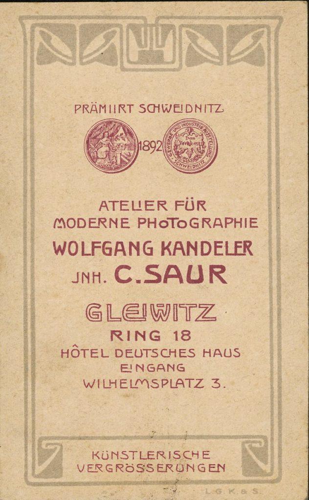 Wolfgang Kandeler - C. Saur - Gleiwitz