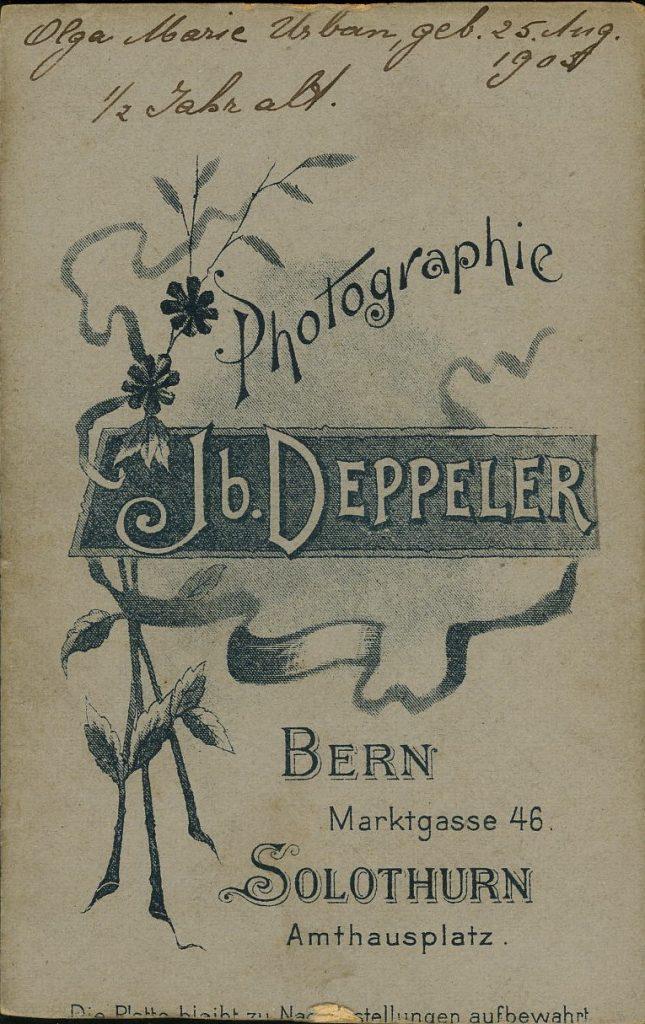 Jb. Deppeler - Bern - Solothurn