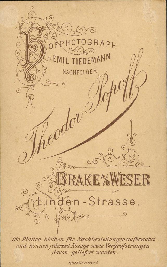 Theodor Popoff - Emil Tiedemann - Brake