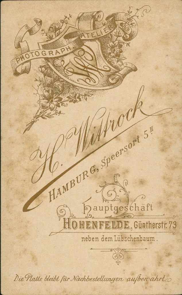 H. Wittrock - Hohenfelde - Hamburg