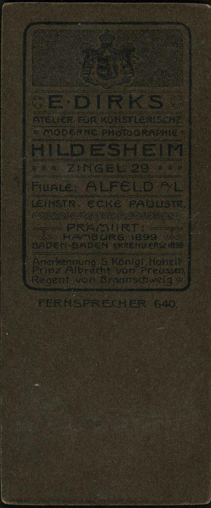 E. Dirks - Hildesheim - Alfeld