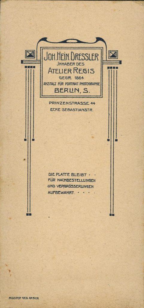 Joh. Hein. Dressler - Berlin - Regis