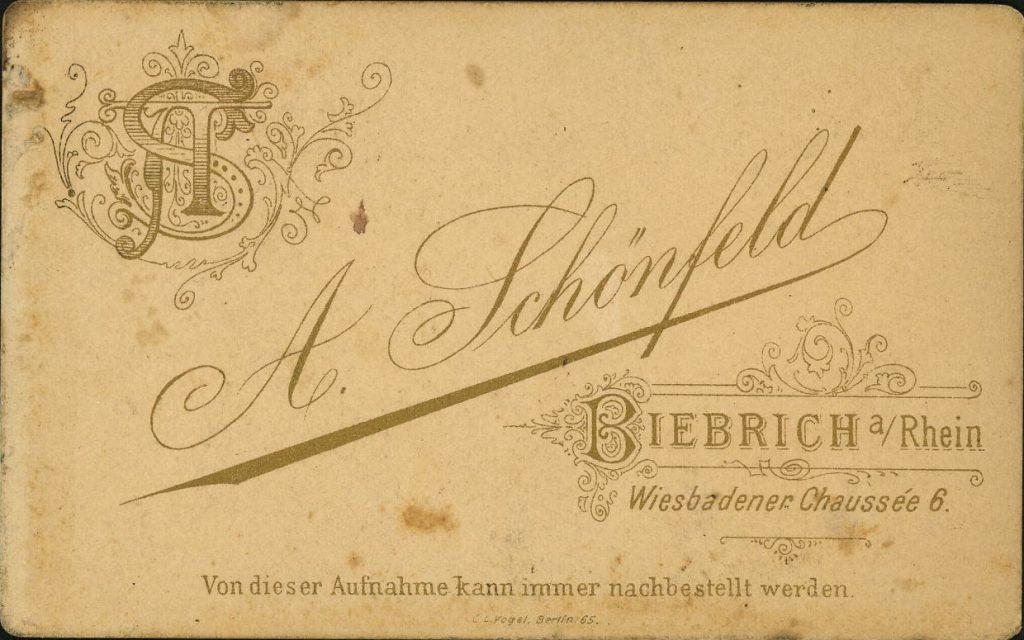 A. Schönfeld - Biebrich a.Rh