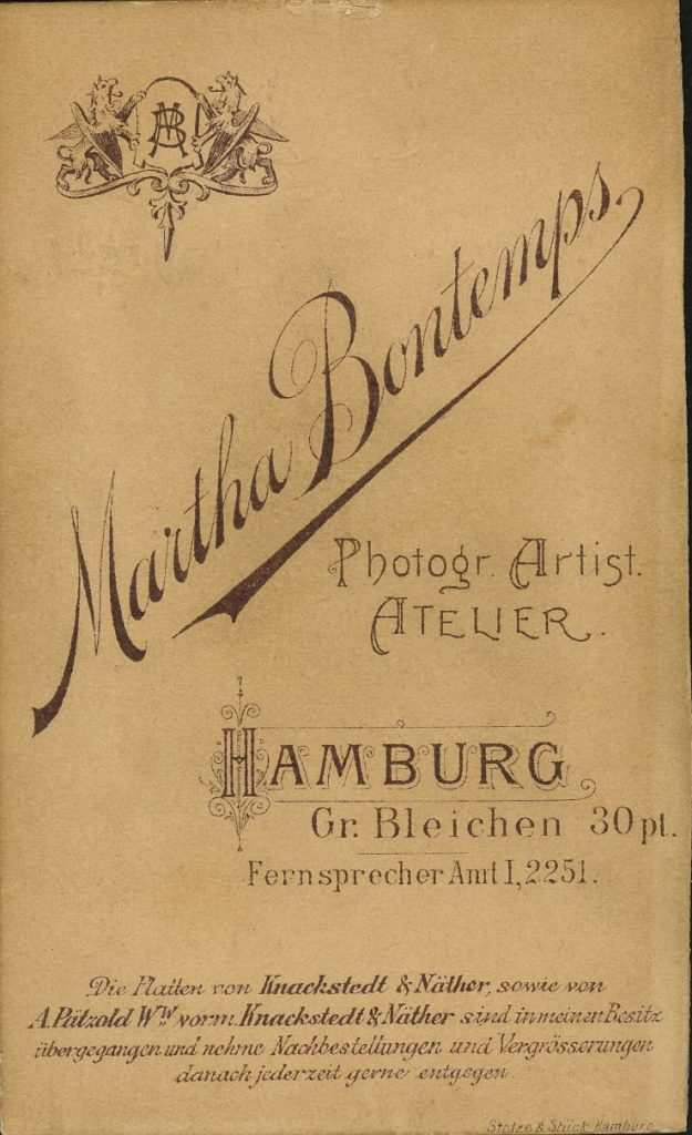 Martha Bontemps - Hamburg - Knackstedt - Näther - Pätzold