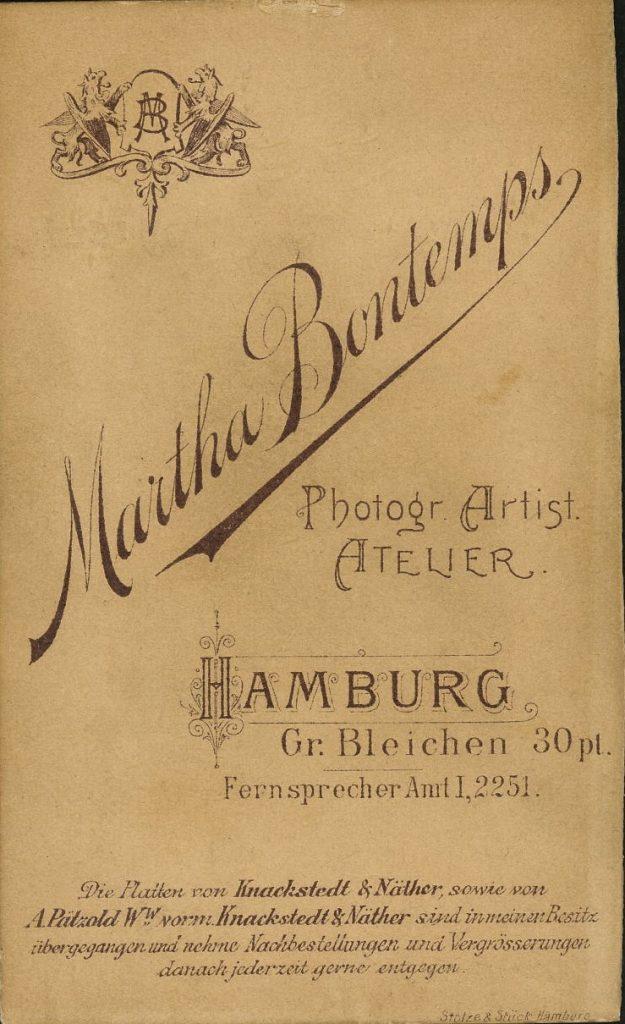 Martha Bontemps - Hamburg - Knackstedt - Näther - Pätzold
