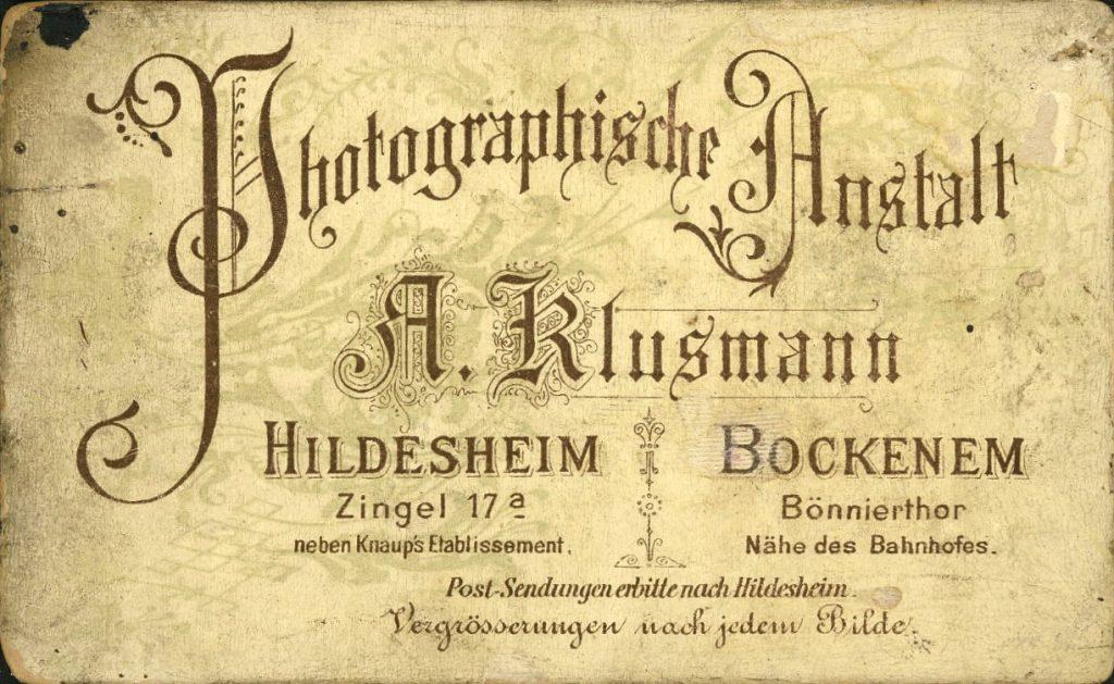 A. Klusmann - Hildesheim - Bockenem