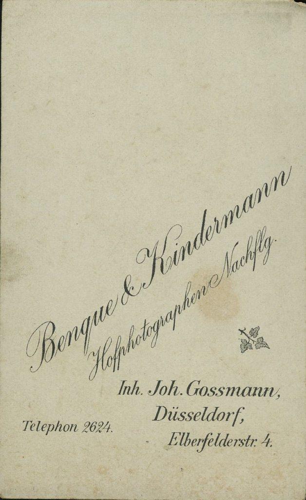 Benque - Kindermann - Gossmann - Düsseldorf