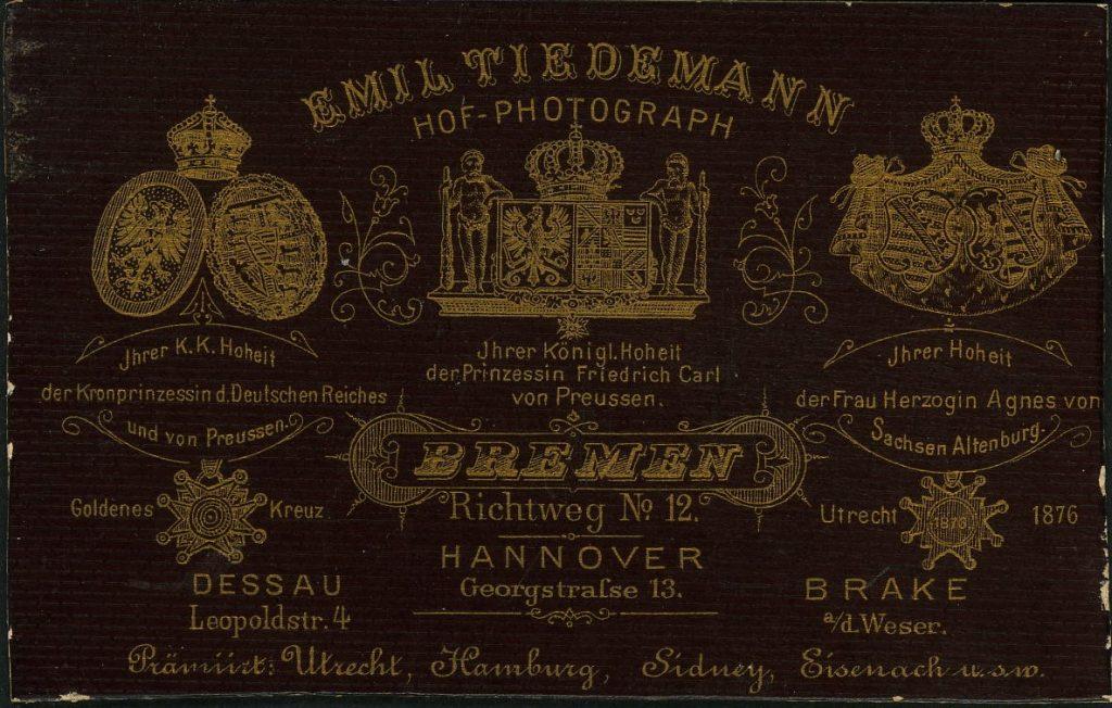 Emil Tiedemann - Bremen - Hannover - Brake - Dessau