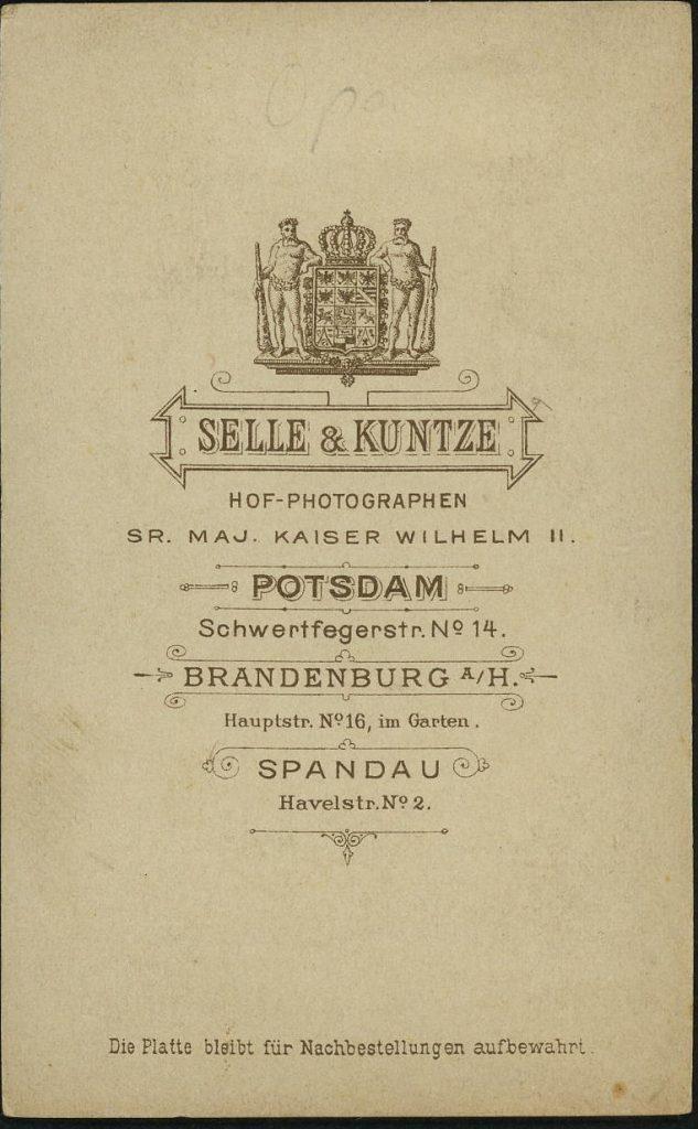Selle - Kuntze - Potsdam - Brandenburg - Spandau