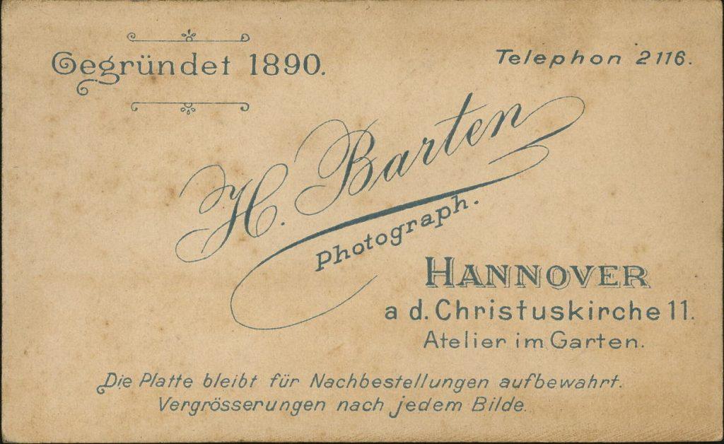 H. Barten - Hannover