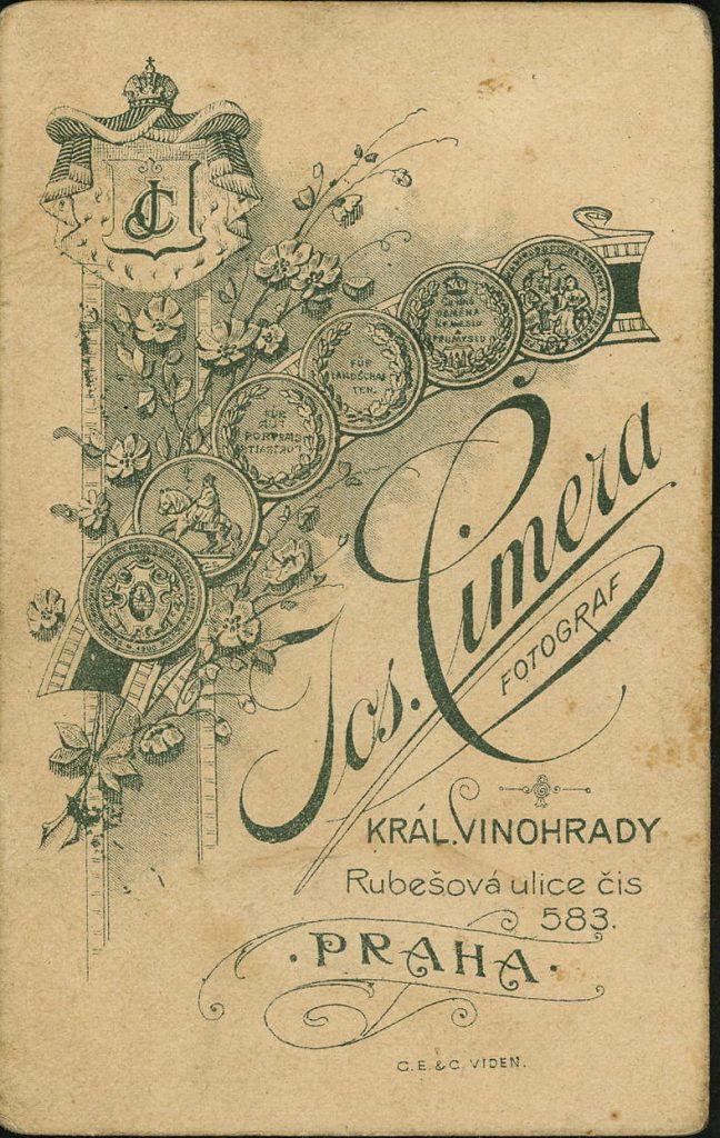 Jos. Cimera - Praha - Král Vinohrady