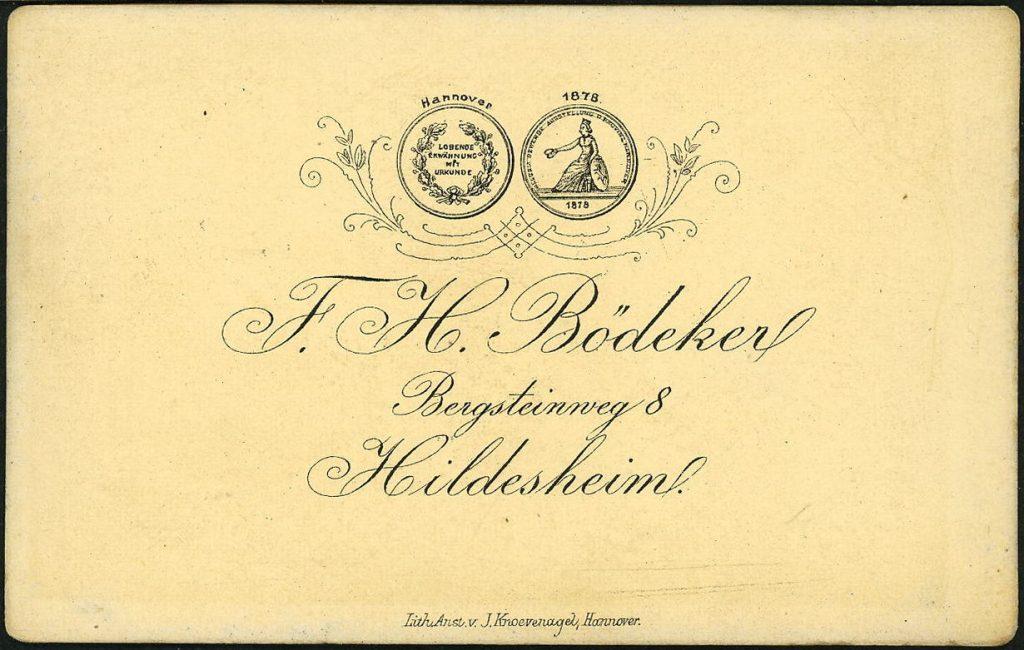 F. H. Bödeker - Hildesheim