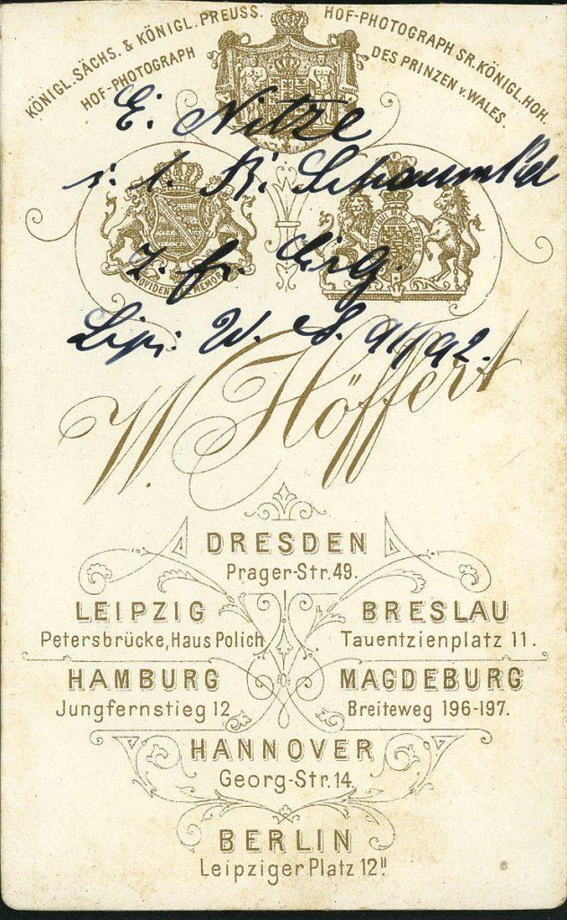 W. Höffert - Dresden - Hamburg - Breslau - Berlin - Hannover - Leipzig