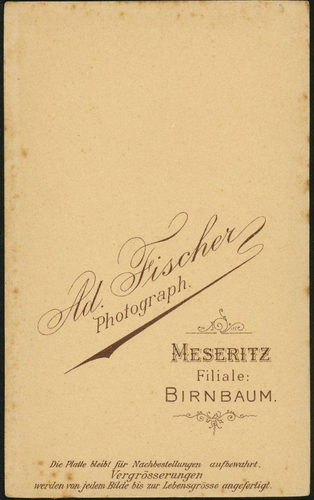 Ad. Fischer - Meseritz - Birnbaum