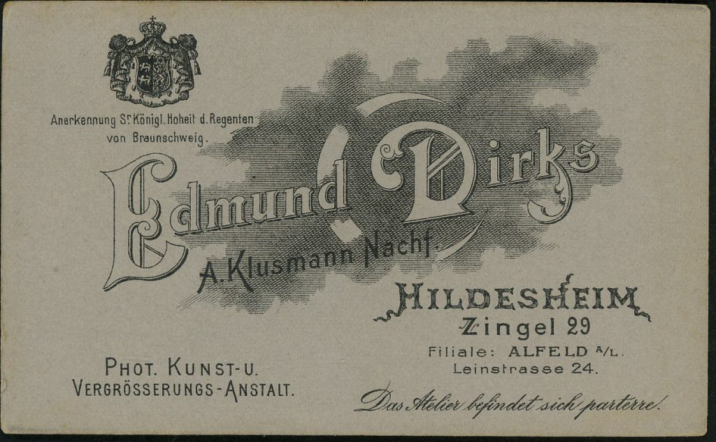 Edmund Dirks - Hildesheim - A. Klusmann - Alfeld