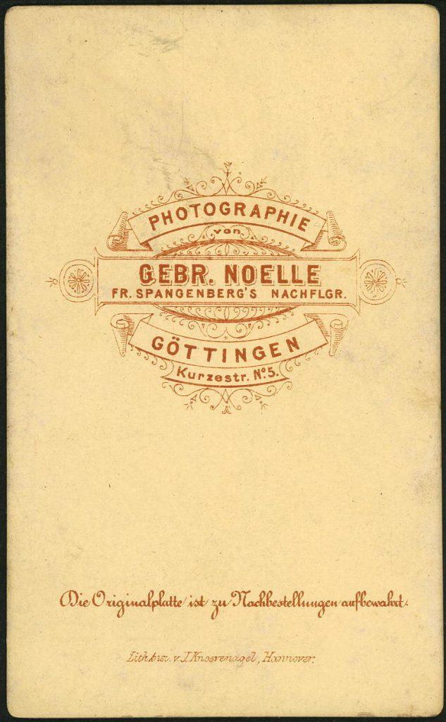 Noelle - Fr. Spangenberg - Göttingen