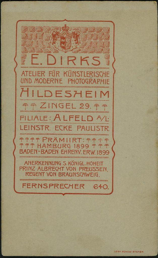E. Dirks - Hildesheim - Alfeld a.L.