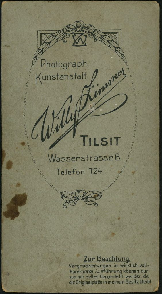 Willy Zimmer - Tilsit