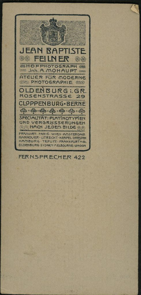 Jean Baptiste Feilner - A. Mohaupt - Oldenburg - Cloppenberg - Berne