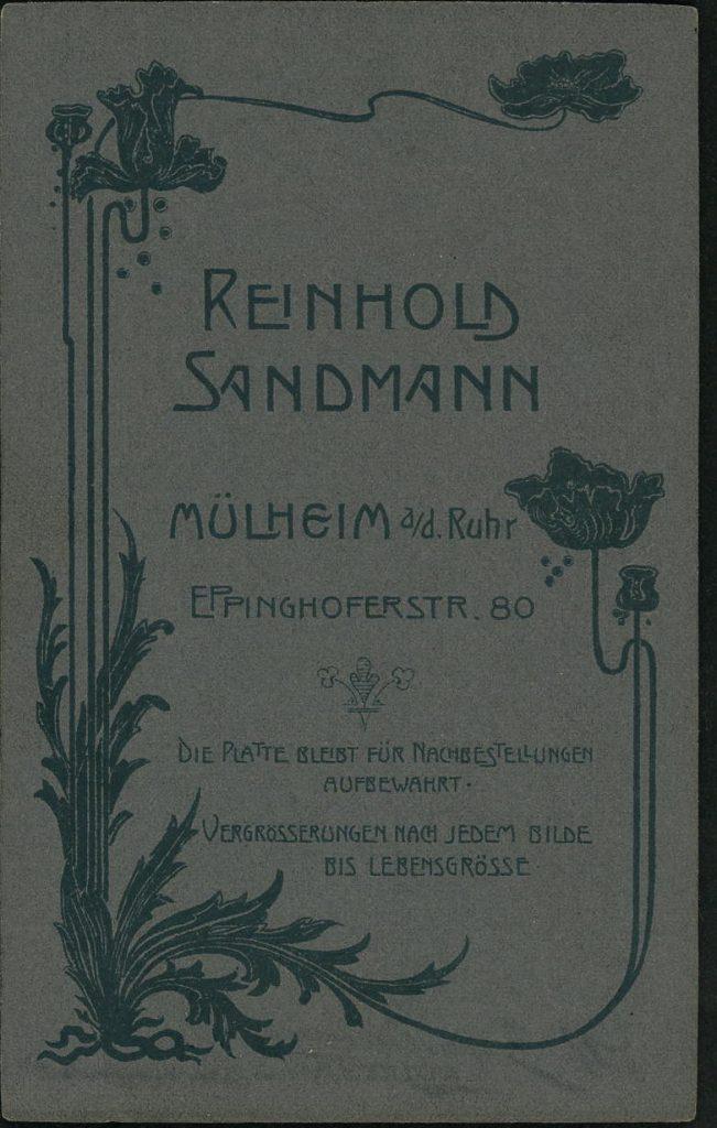 Reinhold Sandmann - Mülheim a.R.