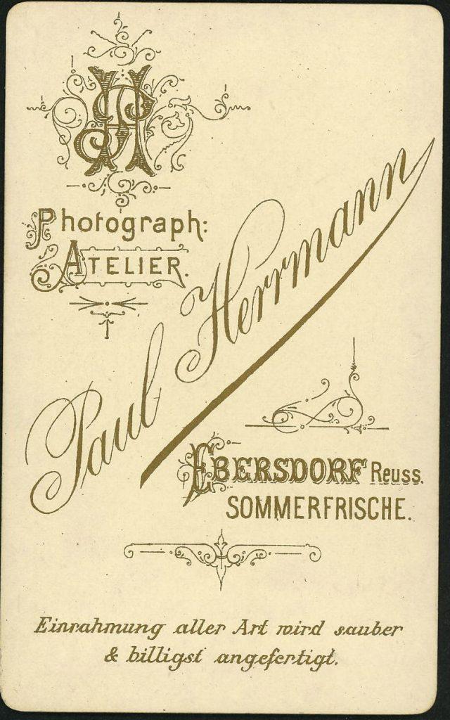 Paul Herrmann - Ebersdorf Reuss.j.L.