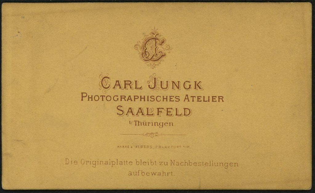 Carl Jungk - Saalfeld i.T.