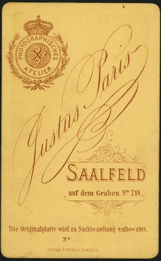 Justus Paris - Saalfeld a.S.