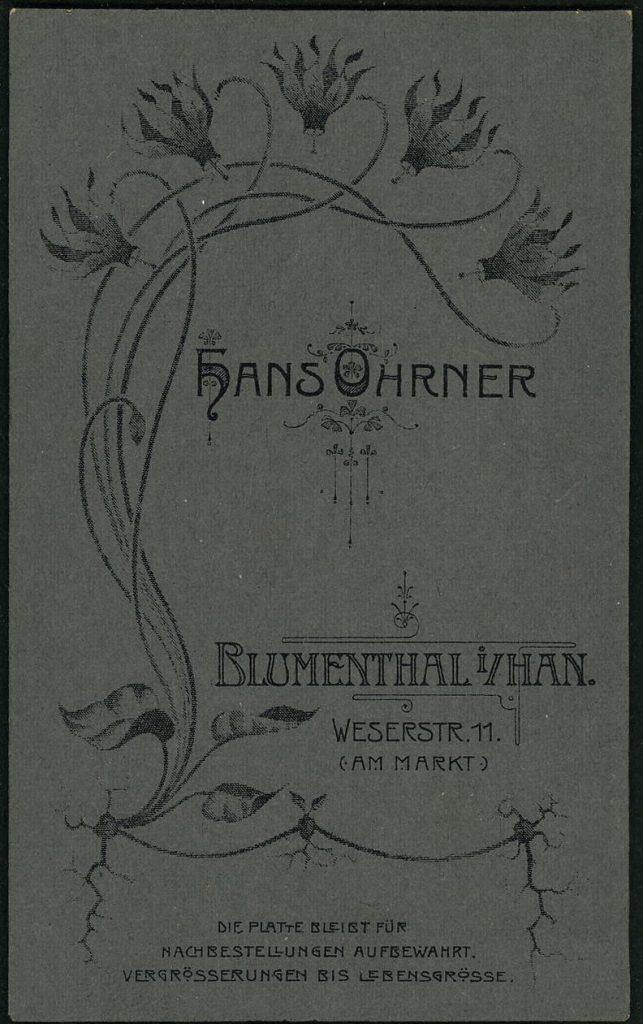 Hans Ohrner - Blumenthal i.Han