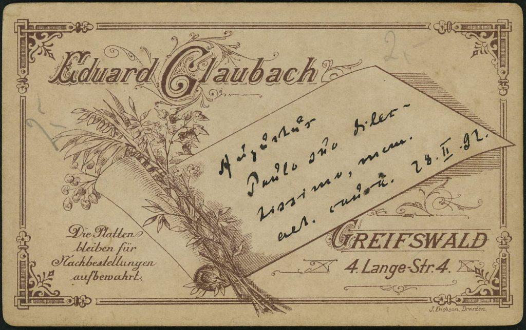 Eduard Glaubach - Griefswald
