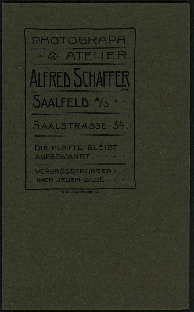 Alfred Schaffer - Saalfeld