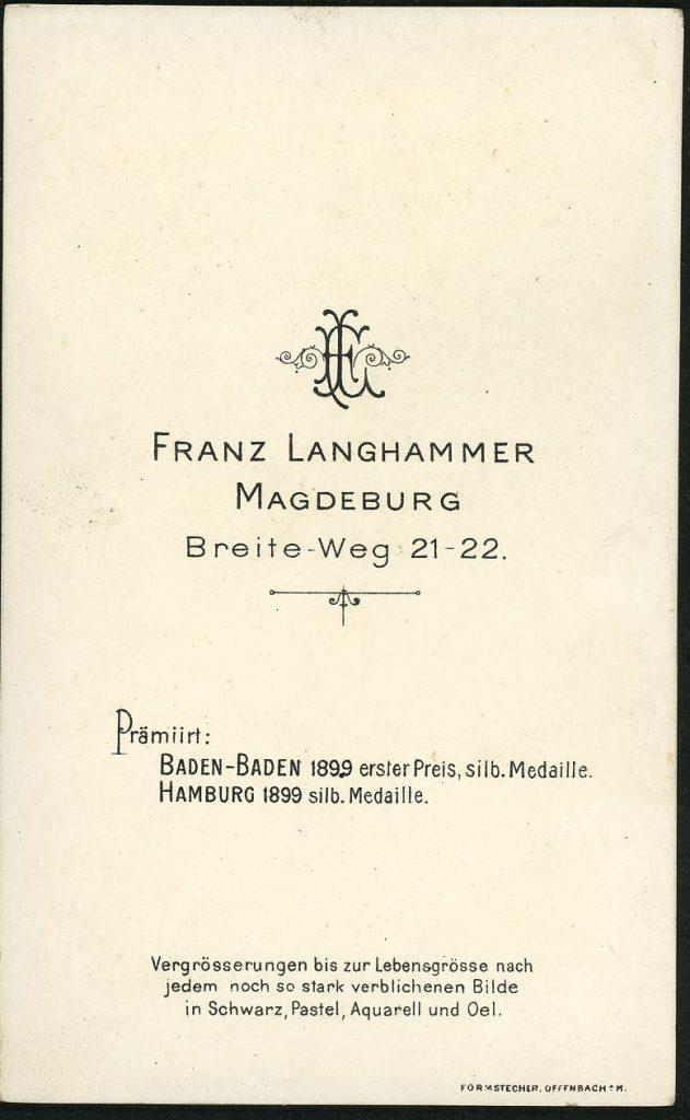 Franz Langhammer - Magdeburg