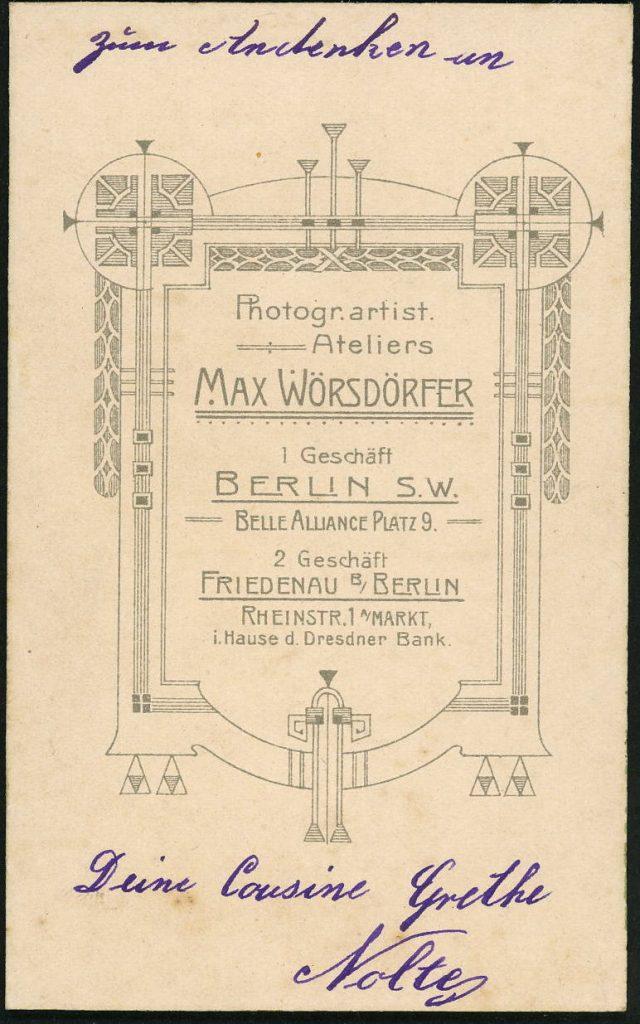 Max Wörsdörfer - Berlin - Friedenau
