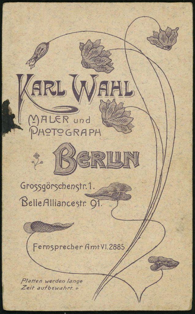 Karl Wahl - Berlin