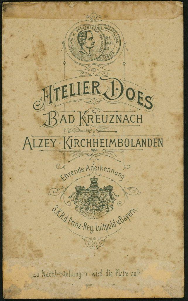 Ph. Does - Bad Kreuznach - Alzey - Kirchheimbolanden