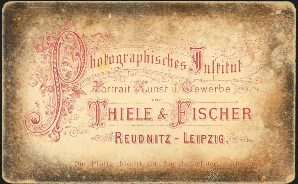 Thiele - Fischer - Reudnitz-Leipzig
