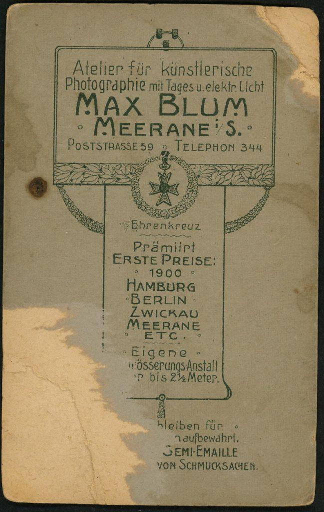 Max Blum - Meerane