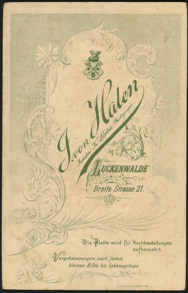 J. von Halen - Luckenwalde - k. Tietze