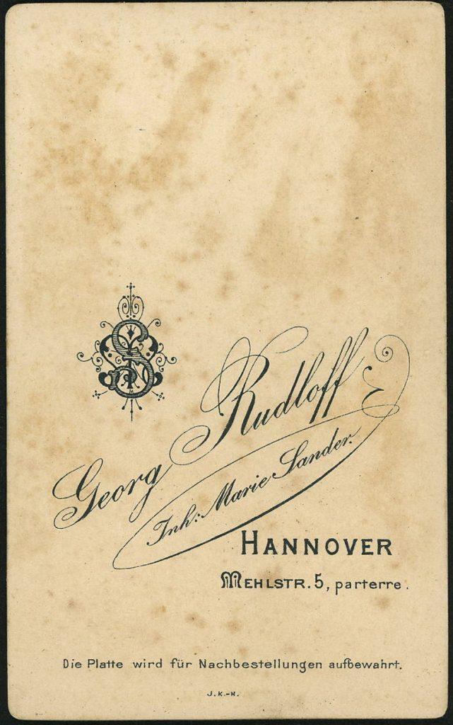 Georg Rudloff - Marie Sander - Hannover
