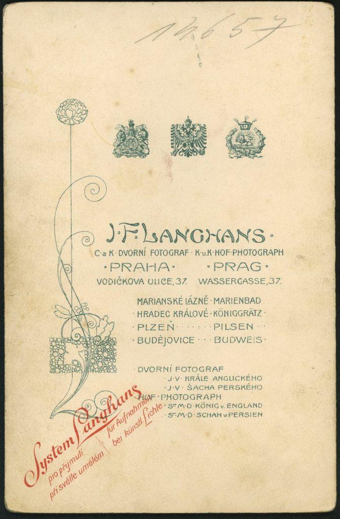 J. F. Langhans - Prag - Praha - Marienbad - Königgrätz - Pilsen - Budweis