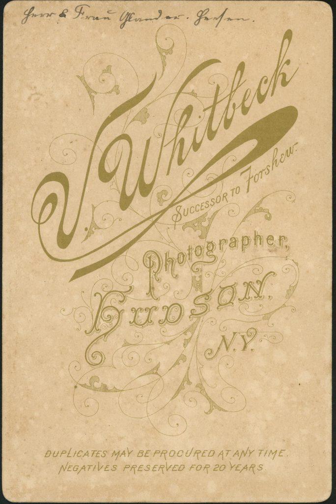 V. Whitbeck - Hudson, N.Y.